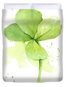 Clover Watercolor Duvet Cover