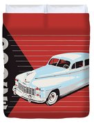 Dodge Showroom Poster Duvet Cover
