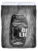 Crushed Blue Beer Can On Plywood 78 In Bw Duvet Cover