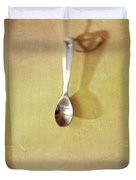 Hanging Spoon On Jute Twine Duvet Cover