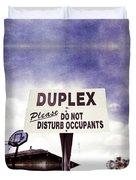 Duplex Yard Sign Stormy Sky Duvet Cover
