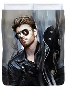 George Michael Singer Duvet Cover