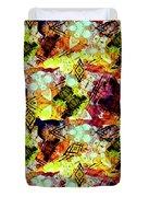 Graffiti Style - Markings On Colors Duvet Cover