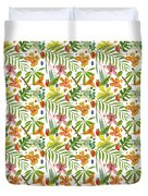 Tropical Flora Duvet Cover