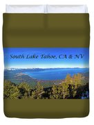 South Lake Tahoe, Ca And Nv Duvet Cover