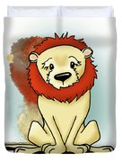 Lion Peaceful Reflection  Duvet Cover