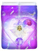 Heart Of The Violet Flame Duvet Cover