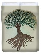Embroidered Tree Duvet Cover