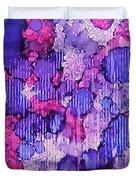 Raspberry Rain Ink #19 Duvet Cover