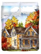 October At The Farm Duvet Cover