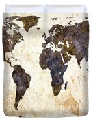 World Map Abstract Duvet Cover