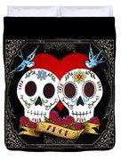 Love Skulls II Duvet Cover