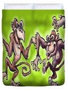 Monkey Dance Duvet Cover