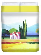Red Roof Pastoral Duvet Cover