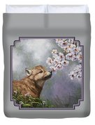 Wolf Pup - Baby Blossoms Duvet Cover