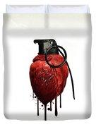 Heart Grenade Duvet Cover by Nicklas Gustafsson