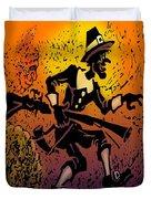 Thanksgiving Pilgrim Duvet Cover