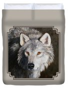 Wolf Portrait Duvet Cover by Crista Forest