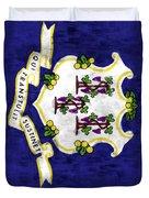 Connecticut Flag Duvet Cover