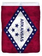 Arkansas Flag Duvet Cover