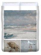 Beach Triptych 1 Duvet Cover