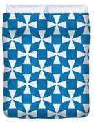 Blue Twirl Duvet Cover