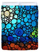 A Day To Remember - Mosaic Landscape By Sharon Cummings Duvet Cover