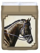 Dressage Horse - Concentration Duvet Cover by Crista Forest