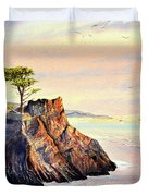 Lone Cypress Tree Pebble Beach Duvet Cover