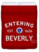 Entering Beverly Duvet Cover