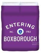 Entering Boxborough Duvet Cover