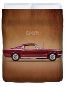 Ford Mustang Fastback 1965 Duvet Cover