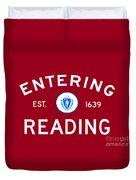 Entering Reading Duvet Cover