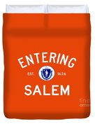 Entering Salem Duvet Cover