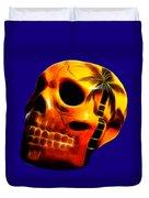 Glowing Skull Duvet Cover