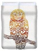 Swirly Owl Duvet Cover