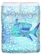 Swirly Shark Duvet Cover