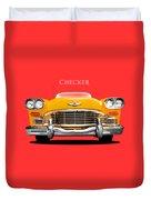 Checker Cab Duvet Cover