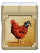 Rhode Island Red Rooster Duvet Cover by Crista Forest
