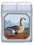Brown Chinese Goose Duvet Cover by Crista Forest