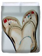 Beach Feet Duvet Cover
