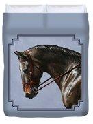 Horse Painting - Discipline Duvet Cover