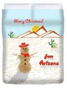 Arizona Tumbleweed Snowman Duvet Cover