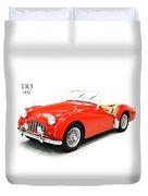 Triumph Tr3 1957 Duvet Cover