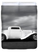 32 Ford Deuce Coupe In Black And White Duvet Cover