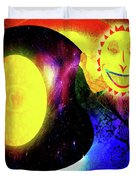 Great Sun Jester And The Night Sky Duvet Cover
