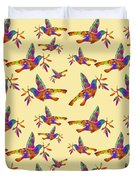 Dove With Olive Branch Duvet Cover