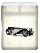 Jaguar Ss100 1936 Duvet Cover by Mark Rogan