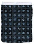 Snowflake Collage - Season 2013 Dark Crystals Duvet Cover