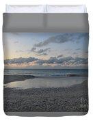 Aruba Beach At Dusk Duvet Cover